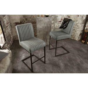 LuxD Designová barová židle Boss, antik šedá