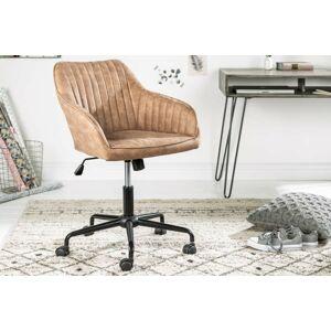 LuxD Kancelářské křeslo Esmeralda, vintage taupe - II. třída
