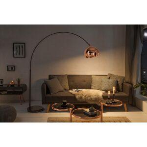 LuxD 21327 Designová stojanová lampa Arch, zlato-růžová