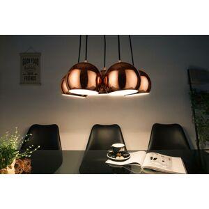 LuxD 21326 Designová závěsná lampa Briella, zlato-růžová závěsné svítidlo