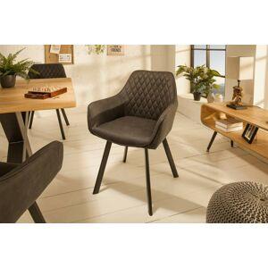 LuxD Designová židle Francesca, antracit
