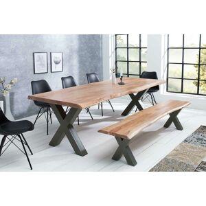 LuxD Designový jídelní stůl Massive X, 300 cm, akácie