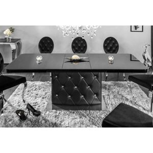 LuxD Roztahovací jídelní stůl Ramon, 160-200 cm, černý