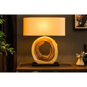LuxD 21537 Designová stolní lampa Deandre, 61 cm ořech