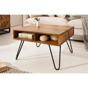 LuxD Designový konferenční stolek Shayla, 60 cm, sheesham