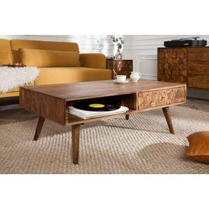 LuxD Designový konferenční stolek Justice, 110 cm, sheesham