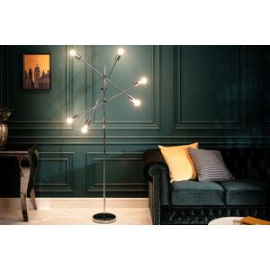 LuxD 25002 Designová stojanová lampa Walter stříbrná