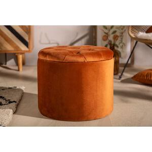 LuxD Designová taburetka Rococo 50 cm rezavě-hnědá