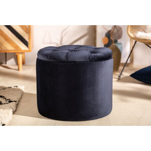 LuxD Designová taburetka Rococo 50 cm tmavomodrá