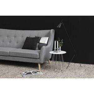 Dkton Moderní odkládací stolek Ahmed bílá / chromová