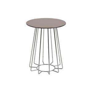 Dkton Moderní odkládací stolek Ahmed bronzová / chromová