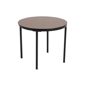 Dkton Kulatý odkládací stolek Aither bronzová / černá