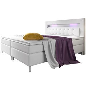 """Postel ,,Montana"""" 140 x 200 cm s pružinovou matrací, bílá"""