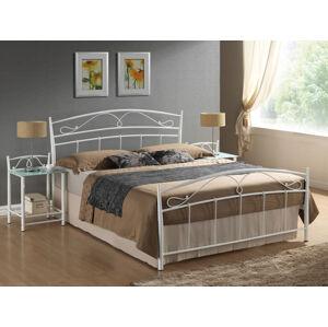 Kovová postel SIENA 120 x 200 cm barva bílá