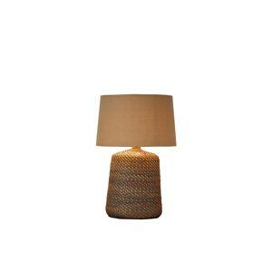 LuxD 24354 Ratanová stolní lampa Terrell 96 cm šedá - béžová