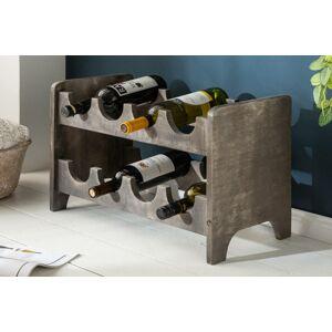 LuxD Regál na víno Winebar 54 cm šedé mango