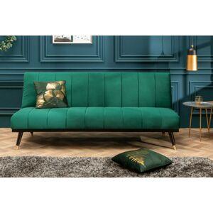 LuxD Rozkládací sedačka Halle 180 cm smaragdově zelená