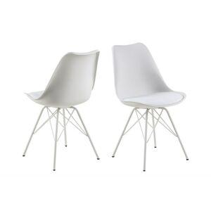 Dkton Designová židle Nasia bílá