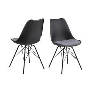 Dkton Designová židle Nasia černá / šedá