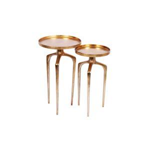 LuxD Set odkládacích stolků Pablo zlatý 2 ks