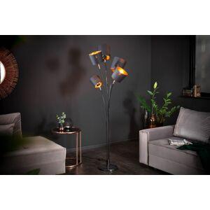 LuxD 22990 Stojanová lampa Shadow 178 cm černá - zlatá