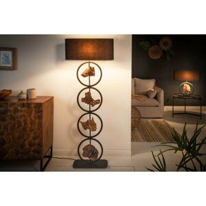 LuxD 24239 Stojanová lampa Factor 147 cm černá - akácie