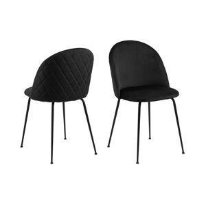 Dkton Stylová jídelní židle Alexandre černá