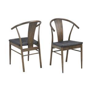 Dkton Stylová jídelní židle Alioth tmavý dub