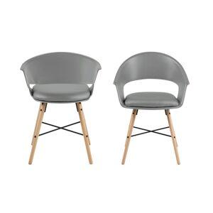 Dkton Stylové židle Alben šedá