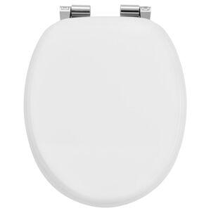 Záchodové prkénko Bílá vyrobená z MDF s tichým zavíráním
