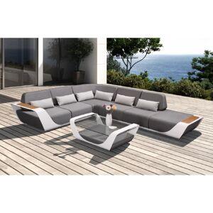 Higold Zahradní rohová sestava HIGOLD - Onda Corner Lounge Sunbrella White/Grey Quick dry foam